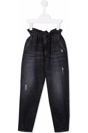 DONDUP KIDS Paperbag-waist straight jeans