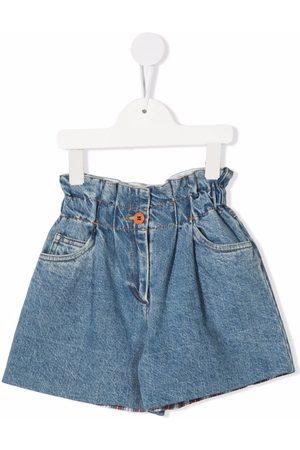 PHILOSOPHY DI LORENZO SERAFINI Girls Shorts - Paperbag waist denim shorts