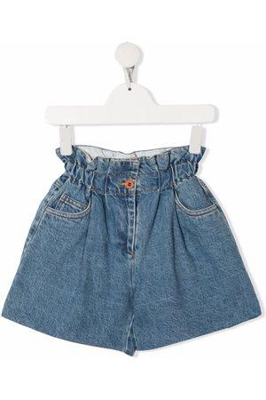 PHILOSOPHY DI LORENZO SERAFINI Boys Shorts - High-waisted cotton denim shorts