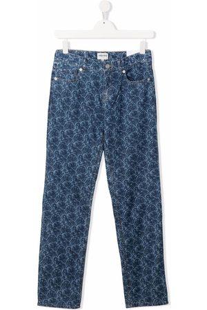 Kenzo Slim - Abstract-print slim-fit jeans