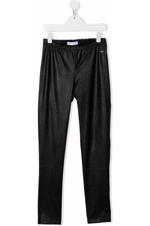 MONNALISA TEEN faux leather leggings