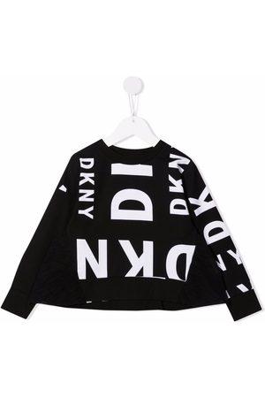 Dkny Kids All-over logo print sweatshirt