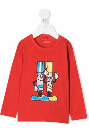 Stella McCartney Long Sleeve - Graphic-print longsleeved T-shirt