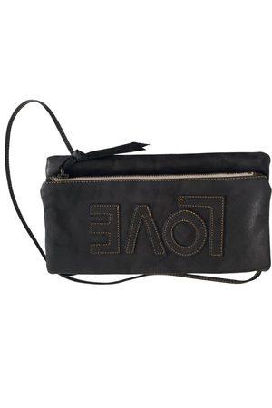 MAISON DE VACANCES Leather clutch bag
