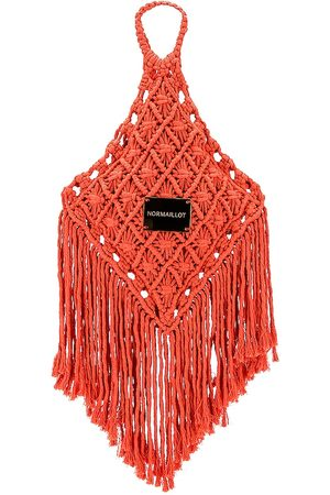 Normaillot Macrame Bag in Coral.