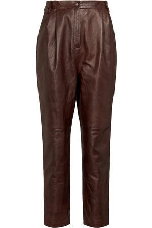 Magda Butrym High-rise tapered leather pants