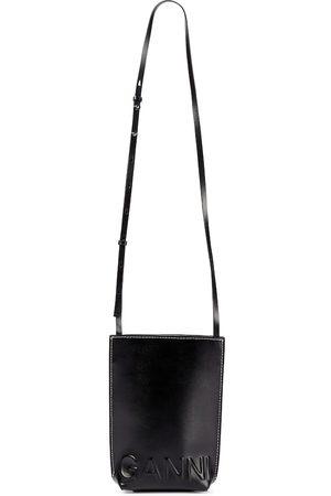 Ganni Recycled leather crossbody bag
