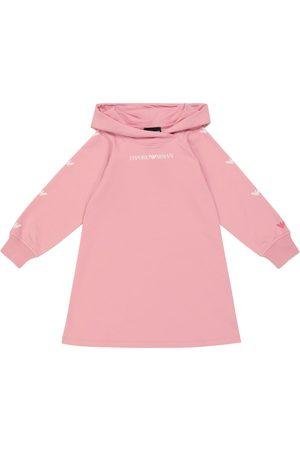 Emporio Armani Kids Logo stretch-cotton hoodie dress