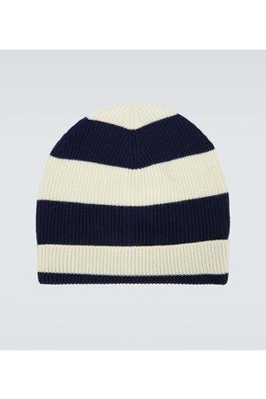 BARENA Striped wool ribbed beanie