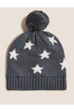 Hats - Kids' Cotton Star Winter Hat (0-12 Mths)