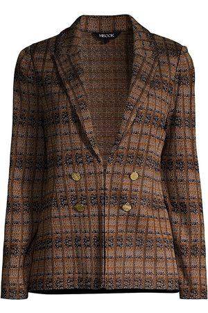 Misook Subtle Textural Plaid Knit Jacket