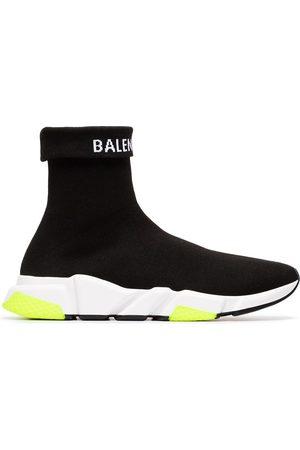 Balenciaga Men Sneakers - White and yellow speed sock sneakers
