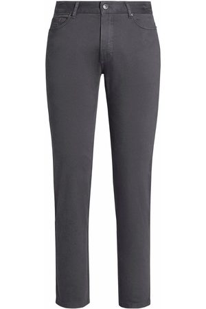 Ermenegildo Zegna Straight-leg wool flannel jeans - Grey
