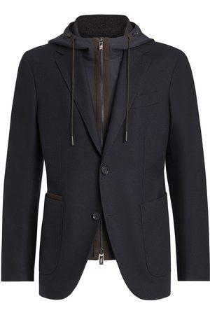 Ermenegildo Zegna Wool-blend detachable waistcoat jacket