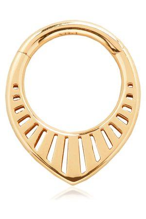 Monica Vinader Women Hoop - Gold Solid Gold Talisman Infinity Single Hoop Earring 8mm