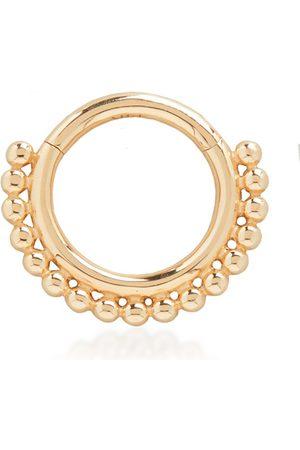Monica Vinader Women Hoop - Gold Solid Gold Deia Beaded Infinity Single Hoop Earring 8mm