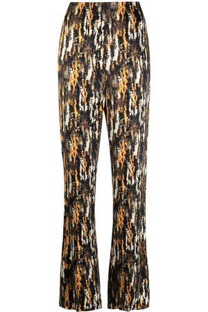 Nanushka Women Straight Leg Pants - Abstract-print straight-leg trousers