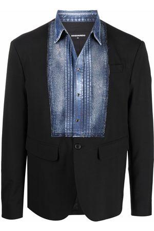 Dsquared2 Men Blazers - Denim-panel blazer