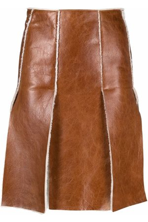 Dsquared2 Shearling-lined leather skirt