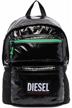 Diesel Logo-print glossy backpack