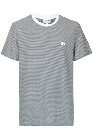 Lacoste Striped crocodile-embroidered T-shirt