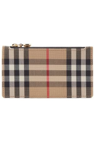 Burberry Somerset Vintage-check Leather And Canvas Wallet - Womens - Multi