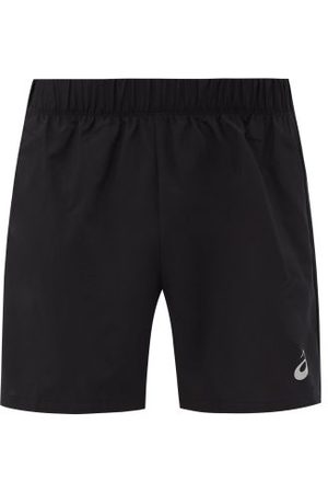 Asics Men Sports Shorts - Katakana Reflective-logo Running Shorts - Mens