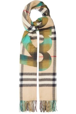 Burberry Women Scarves - Kingdom-jacquard Check Cashmere Scarf - Womens - Multi