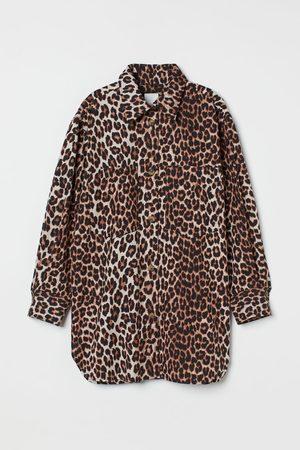 H & M Oversized Cotton Shirt Jacket