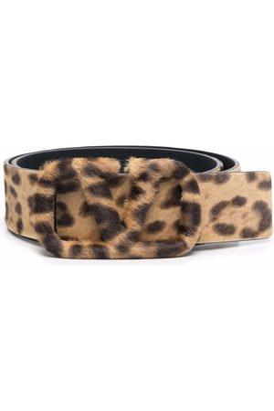VALENTINO GARAVANI Women Belts - VLogo Signature leopard-print belt - Neutrals