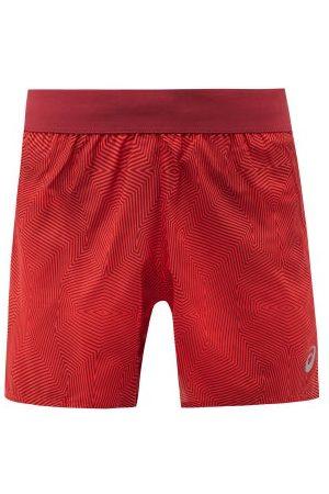 Asics Kasane Geometric-print Running Shorts - Mens