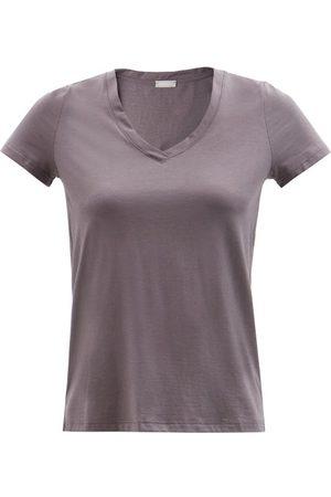 Hanro Sleep & Lounge Cotton-blend Jersey T-shirt - Womens - Grey