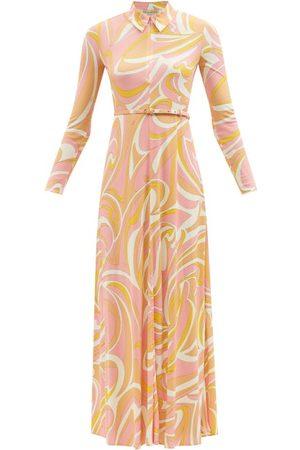 Emilio Pucci Zipped Vortici-print Jersey Maxi Dress - Womens - Multi