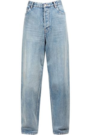 Balenciaga Women Boyfriend Jeans - Large Baggy Denim Jeans