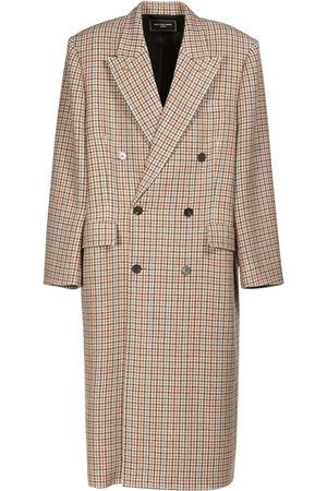 Balenciaga Boxy Asymmetric Wool Coat