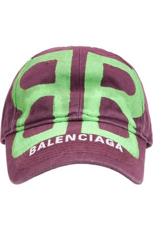 Balenciaga Men Caps - Bb Sprayed Cotton Cap