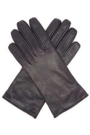 Burberry Men Gloves - Logo-debossed Leather Gloves - Mens