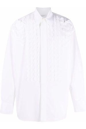 VALENTINO Men Shirts - Scallop-trim shirt