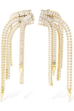 ROSANTICA Women Earrings - Scorpio Crystal Fringe Clip-on Earrings
