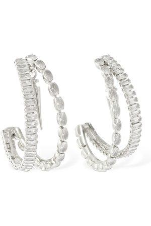 ROSANTICA Scorpio Crystal Double Hoop Earrings