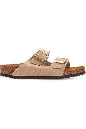 BIRKENSTOCK Arizona Sfb Nude Suede Sandals