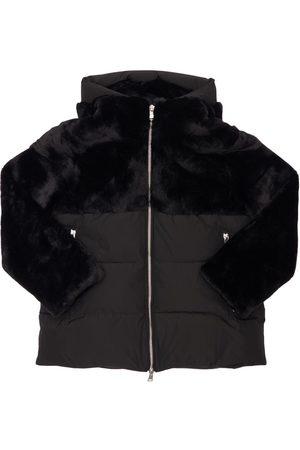 Bomboogie Girls Puffer Jackets - Faux Fur & Nylon Puffer Jacket