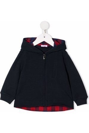 Il gufo Checked lining hooded jacket