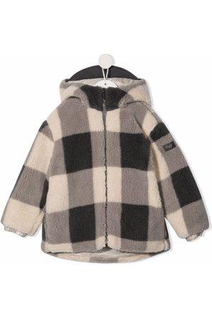 Il gufo Boys Bomber Jackets - Check-print coat - Neutrals
