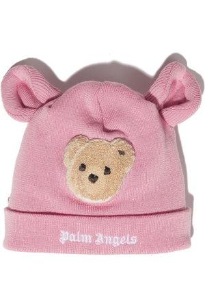 Palm Angels Girls Beanies - PALM ANGELS BEAR BEANIE BROWN