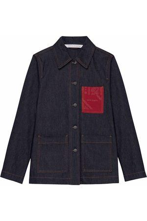 Palm Angels Bandana Pocket workwear denim jacket