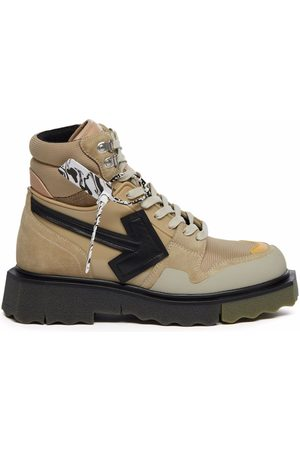 OFF-WHITE Arrow motif hiking sneaker boots - Neutrals