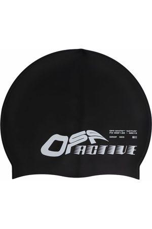 Off-White Caps - Logo-print swimming cap