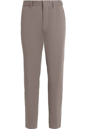 Ermenegildo Zegna Slim-cut stretch-cotton trousers - Grey
