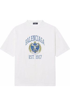 Balenciaga Logo crest print T-shirt